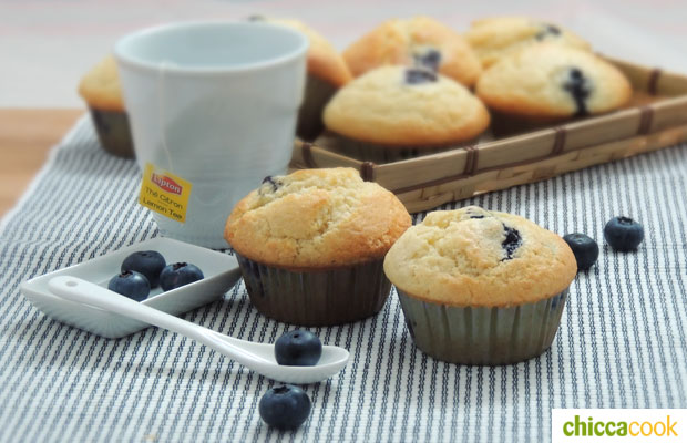 muffin ai mirtilli ricetta - Muffin ai mirtilli