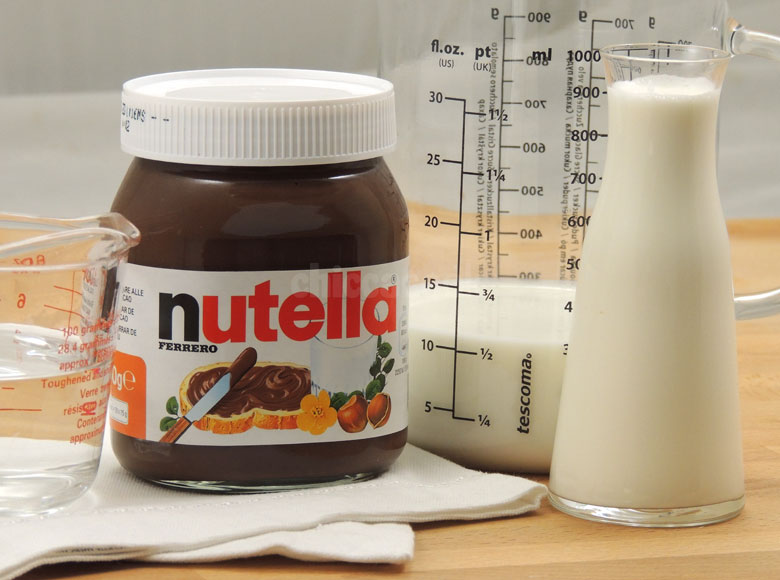 liquore alla nutella - ingredienti